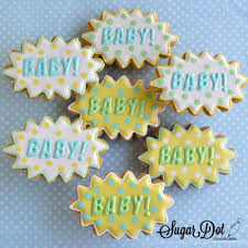 sugar dot cookies superhero baby shower cookies