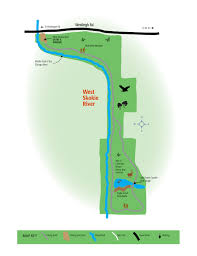 Chicago River Map by West Skokie Nature Preserve Lake Forest Open Lands