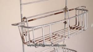 bathroom design transparent shower caddy for bathroom accessories