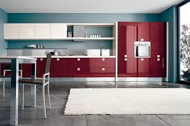 Red Kitchen White Cabinets Red Lacquer Kitchen Cabinets Ultra Modern Ultra Sleek Ultra