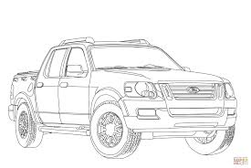 ford explorer sport trac coloring page free printable coloring pages