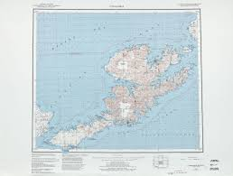 Minnesota Topographic Map Unalaska Topographic Map Sheet United States 1983 Full Size