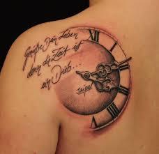 shoulder tattooo clock tattoo on left back shoulder time pinterest tattoo and
