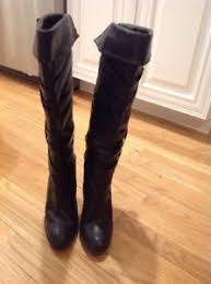 womens high heel boots size 9 michael kors womens black leather knee high heel boots size 9 ebay