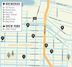 Seattle Breweries Map by The Breweries Of Brewery Creek