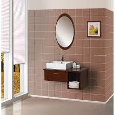 bathroom wood framed mirrors oval mirrors for bathroom oval
