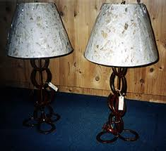 western handcrafted horseshoe lamps 1
