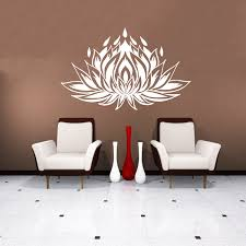 Wall Murals Amazon by Wall Decals Lotus Flower Om Sign Mandala Ornament Indian Geometric
