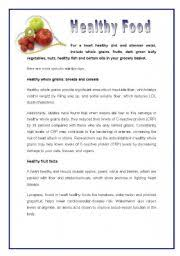 nutrition reading comprehension worksheets u2013 nutrition ftempo