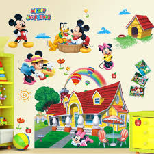 disney mickey mouse 32 new wall decals room decor stickers pluto large 3d mural mickey mouse clubhouse wall sticker decal kids nursery