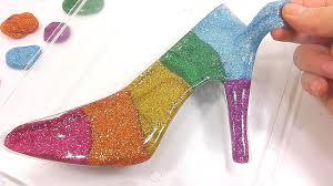 diy how to make u0027colors glitter slime high heels u0027 learn colors