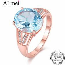 rose zircon rings images Almei light blue topaz zircon ring with cz stone 925 sterling jpg
