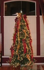 pictures of decorated trees with ribbon