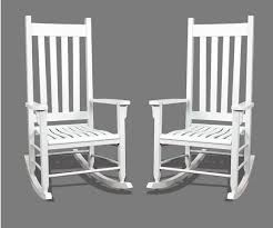 Patio Rocking Chairs Wood Furniture Magnificent Indoor Traditional White Finish Wood Patio