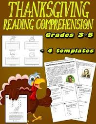 thanksgiving reading comprehension informational text