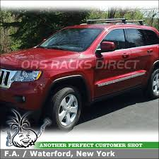 jeep grand cross rails 2012 jeep grand side rails roof rack aeroblade cross bars