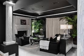 Black And White Living Room Designs Design Trends Premium - Black and white family room