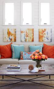 love the orange and blue together just add soft pink in the mix