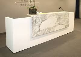 White Reception Desk Arnold Reception Desks Inc Contemporary Reception Desk Arcus