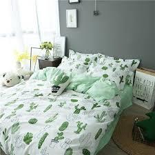 Cotton Bedding Sets Ins 4 Pcs Cactus Print Cotton Bedding Sets Meetcotton