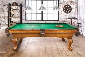 furniture of america gm338 antique oak pool table
