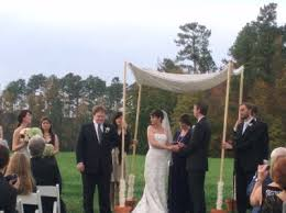 chuppah poles a huppah in chapel hill backyard huppah