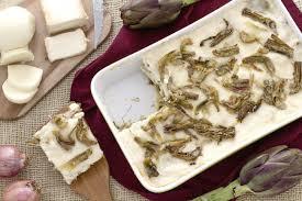 giallo zafferano cucina vegetariana ricetta lasagne di carciofi ai formaggi la ricetta di
