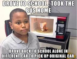 Meme High - i was in high school and fairly new to driving meme guy