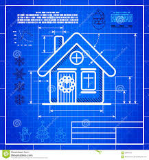 christmas house icon like blueprint drawing stock vector image