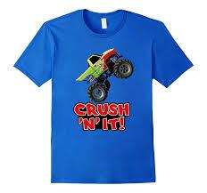 monster truck tshirt crush adults kids u2013 barprime