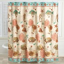 coastal seaside vintage shower curtain from collections etc