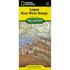 Utah Topo Maps by 713 Logan Bear River Range Trail Map National Geographic Store