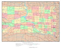 State Capitals Map Maps Of South Dakota State Collection Of Detailed Maps Of South