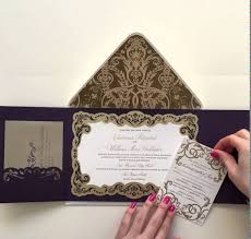 wedding invitations nyc luxury gatefold wedding invitation by ceci new york