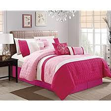 Light Pink Comforter Queen Amazon Com Galaxy 7 Piece Comforter Set Reversible Soft Oversized