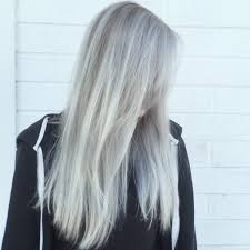 transformation fashion color to light granite and silver balayage