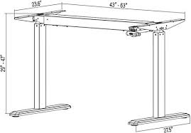 Standing Height Table by Manual Crank Stand Up Steel Desk Frame System Ergonomic Standing