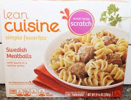 liant cuisine lean cuisine meatballs review