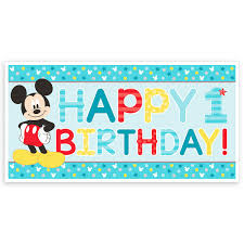 mickey mouse birthday mickey mouse 1st birthday banner shopdisney