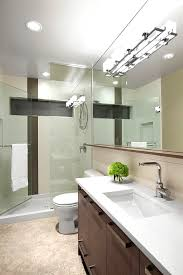 modern bathroom lighting pretty glamorous idea with spotlights