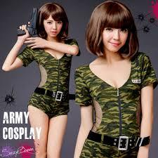 Womens Camo Halloween Costumes Sexyqueen Rakuten Global Market Puffy Straining Police