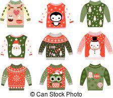 vectors illustration of ugly christmas sweaters dare to wear