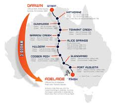 Australian Outback Map This Year U0027s 3000km Journey Through Australia U0027s Outback In The 2015