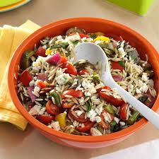 grilled vegetable orzo salad recipe taste of home