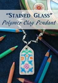 necklace pendant making images Diy jewelry tutorial how to make a quot stained glass quot polymer clay jpg