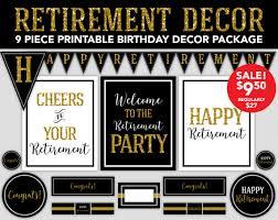 retirement party decorations retirement party decor gold glitter retirement party