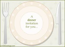 dinner invitation a dinner invitation free party invitations ecards greeting cards
