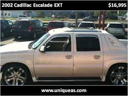 used 2002 cadillac escalade 2002 cadillac escalade ext used cars richmond va