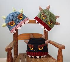 monster hat crochet beanie halloween costume funny hat