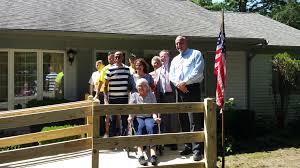 local legislators business help widow of veteran secure home ramp